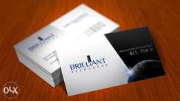 Typing Documents and Business Card Designs