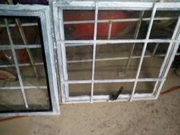 3 x steel windows with burglar bars