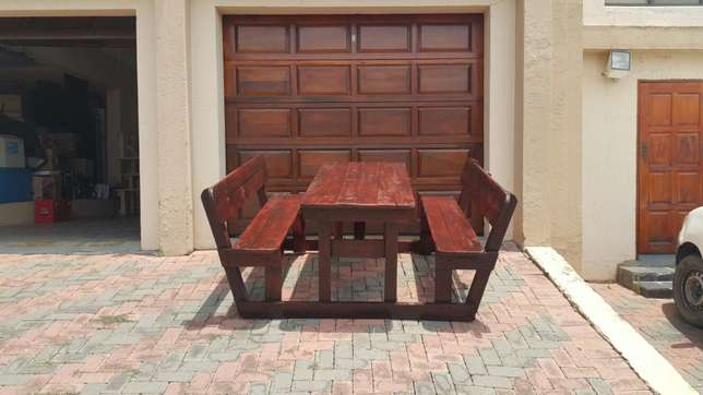Quality wooden patio pub shebeen benches Roodepoort - image 4