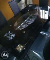 New quality glass dining table with chairs