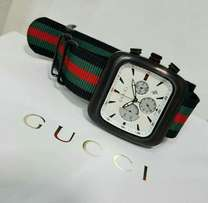 Gucci Coupe Leather Watch