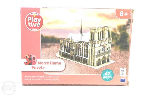 playlive 3d notre dame puzzle 42 pieces ages 8 and up