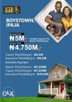 Plots of lands for sale at Boys Town Ipaja Lagos. With C of O