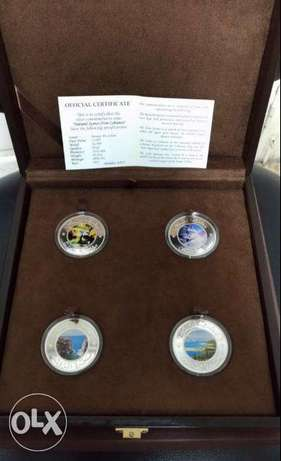 Limited Release Banque Du Liban Silver Coins Scenes from Lebanon - فضة