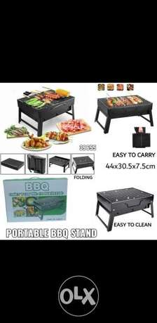 Portable BBQ stand