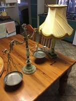 Ornamental scale and table lamp
