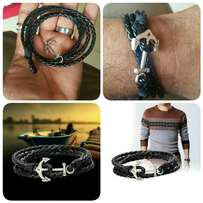 Ship Anchor Multilayer Leather Bracelet