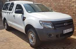 2014 Ford Ranger 2.0 XL LWB bakkie with a canopy