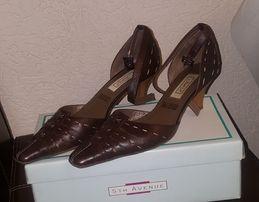 0322ba29e374f Brązowe buty skórzane 40 nowe