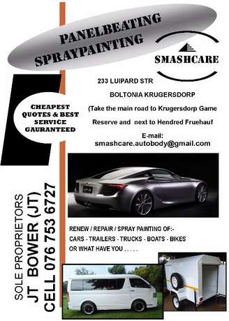 For Panelbeating, Spraypainting, FibreGlass, boats, cars, trucks etc. Krugersdorp - image 1