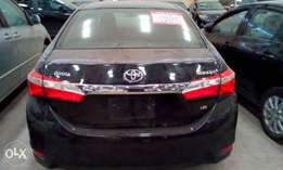 Newly registered Toyota corolla 2014