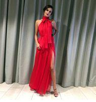 13a25ea8b67a73 Długa zwiewna sukienka, szyfon, wesele, druhna, maxi czerwona sexy