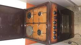 Hot point gas cooker one electric banner and 3 gas banner and electri