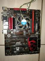 4th gen core i5 motherboard and processor plus 4gig ram Z87 msi gaming
