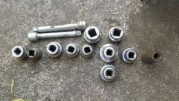 3/4 and 1 inch sockets for sale.