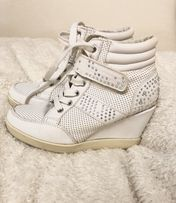 Sneakersy białe na koturnie Kwidzyn • OLX.pl