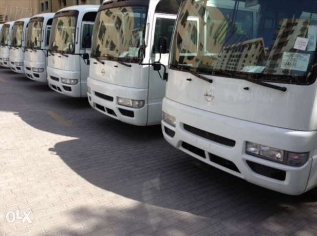 Buses Rental Daily Monthly Yearly ايجار باصات وفانات يومي شهري سنوي