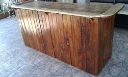 Hand crafted rustic bar for sale