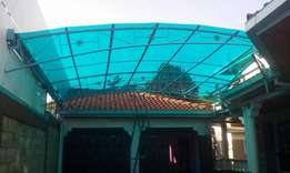 Polycarbonate sheets installations