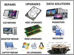 We offer computer hardware/software repair for ALL major brands