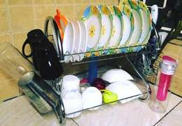 Stainless steel 2 layer dish rack,optional delivery