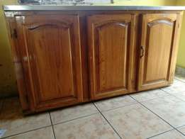 Kitchen sink and cupboard