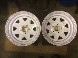 15 inches trailer new rims x 2