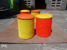 Sitting Puffs. Comes in different colours.