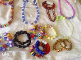 beads bands and necklace