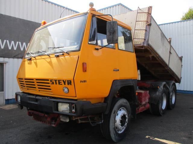 Steyr 1491, 6X4, 3way Tipper, Spring susp. - 1986