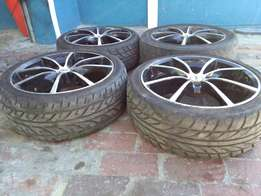 "17""inc rims with new tyres"