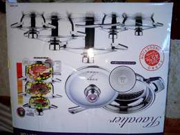 Cooking pot set 16piece . stainlee steel. Swiss made