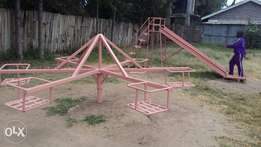 Slidings/see-saw/swings/merry-go-round and climbing cage