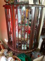 Antique Ball & Claw Display Case