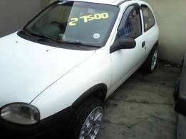 1998 Opel Corsa Lite with brand new mags and tyres.