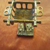 BRASS SOAP and Toothbrush Holder