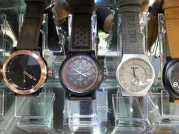 Sleek watches pure leather