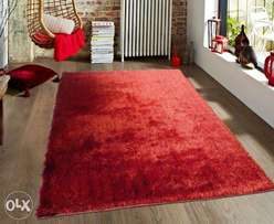 Luxury Soft Carpet- 5 by 8ft Maroon