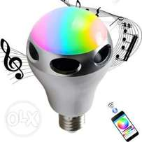 200_ LED Smart Bulb with inbuilt Bluetooth Speaker, Dimmable, Multicol