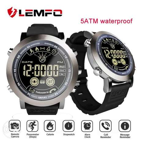 Lemfo Waterproof 50 Meters Digital Smartwatch No Charge Need For 2Year