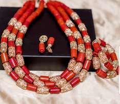 Engagement Coral Beads Set