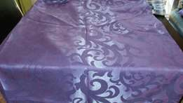 New-7m of embossed purple curtains with eyelids and blackout linings