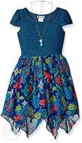 Youngland Big Girls' Dress with Necklace - 12 to 15 Years