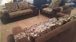 Original Leather Sofa set: 5 Seater