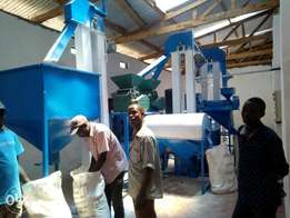 Automatic sifted maize flour mill