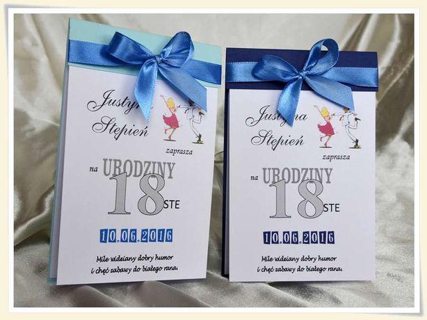 Zaproszenia ślubne Urodziny 18 Ka 20 Rocznice 30 40 50 Jubileusz