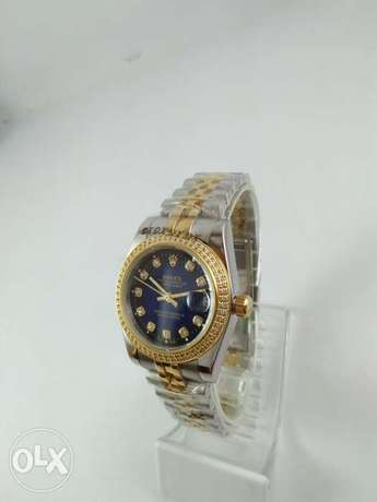 Rolex For Ladies Date Just Half Gold/ Blue..