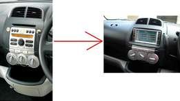 QNC10: Toyota Passo/Daihatsu: Double-Din upgrading radio panel: 8500