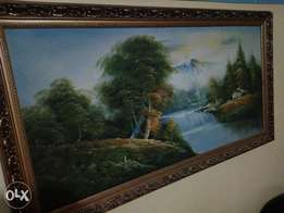 Wall paintings framed
