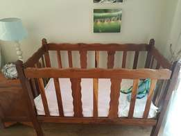 Beautiful Kiaat (Teak) baby cot